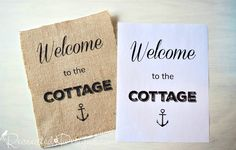The Easiest Way to Print on Burlap for Rustic Signs - POLICE SIGN