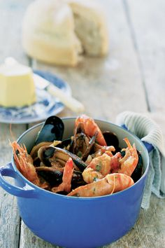 West coast fish stew served with pot beer bread recipe