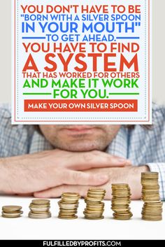 "Are you tired of feeling financially trapped? Don't let your current situation dictate your personal and financial destiny. Find out how you can ""make your own spoon"" at http://fulfilledbyprofits.com."