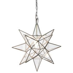 Clear Star Chandelier by Worlds Away.  Available in 3 sizes.Click for Enlarged View