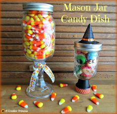 A Creative Princess: Mason Jar Candy Dish
