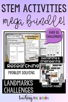 Looking for some STEM challenges for your upper elementary class? This bundle has everything you need for the entire year! These fun STEM activities connect to literature, history, and other areas! Great for 3rd grade through 6th grade. Upper Elementary, Elementary Schools, Engineering Design Process, Teacher Page, A Wrinkle In Time, Steam Activities, Stem Challenges, School Programs, Fun Learning