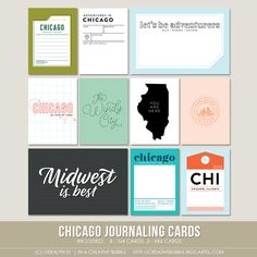 Chicago Journaling Cards (Digital) / In a Creative Bubble