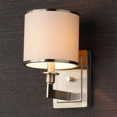 Downstairs Bath? Soft Contemporary Sconce 1 Light (2 finishes) $59
