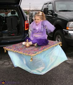 Genie on a Magic Carpet - Homemade Illusion Costume