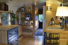 """This is a converted school bus thatSarah Szymczak, her husband Ed, and their four kids live in. Sarah says, """"I never thought we would own a school bus.Yet, it does not surprise me that we do. We'..."""