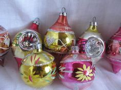 Vintage 1970's Lot Of 7 Hand Blown. Indented  by AuntSuesVintage