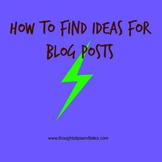 How to find ideas for blog posts is an ongoing issue for bloggers; here's a list of 45 ideas with examples. Tell us how you generate blog content, too!