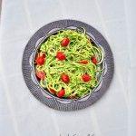Zucchini Pasta with Avocado Pesto