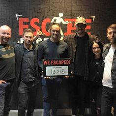 The camera crew for Nashville Flipped escaped The Inheritance with an impressive time. Talented bunch. #Nashville