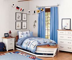 Cute Twin bed in his room for MOM or guest