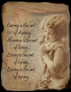 the art of sharing, the art of living, My Little Raggedy Blessings