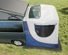 Reimo VW Citroen Berlingo and Peugeot Tepee campervan tailgate tent Vw Transporter Camper, Kombi Motorhome, T5 Camper, Auto Camping, Van Camping, Outdoor Camping, Caravelle Vw, Van Tent, Berlingo Camper