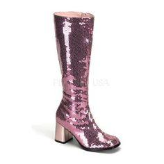 Bottes Rose Brillant Pleaser USA Shoes