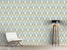 Design #Tapete Tulpen Und Nelken Geflecht