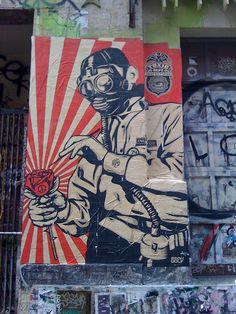 OBEY Street art campaign by Shepard Fairey, in SoHo