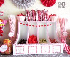 Candy bar gris y rojo 2