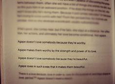 Agape | Rob Bell Book: Sex God