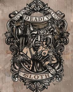 SE7EN DEADLY - DEADLY SLOTH PRINT 11x14