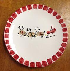 Reindeer Christmas plate