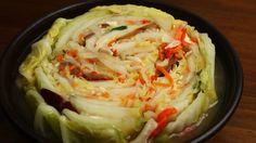Non-Spicy Kimchi (White kimchi: Baek-Kimchi: 백김치)