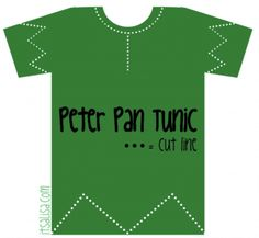 Peter Pan Shirt Pattern for Halloween Costume, and a template for the hat. {For our family Disney costumes this year! Disney Halloween, Halloween Kostüm Baby, Halloween 2014, Holidays Halloween, Halloween Office, Couple Halloween, Halloween Stuff, Peter Pan Kostüm, Peter Pan Shirt