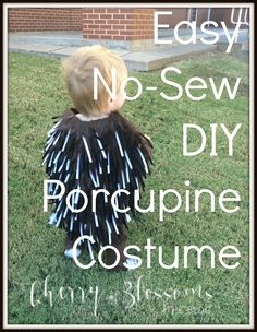 Easy No-Sew DIY Porcupine Costume (Cinderella Diy Costume) Toddler Halloween Costumes, Family Costumes, Halloween Kids, Halloween Themes, Halloween Makeup, Horse Costumes, Diy Costumes, Costume Ideas, Ties