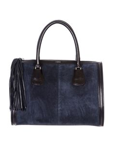 L'AGENCE fall 2013 handbag collection La Ville Suede and Leather Bag
