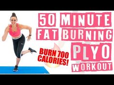 50 Minute At Home Fat Burning Plyo Workout 🔥Burn 700 Calories! 🔥 – Exercises and Fitness Plyo Workouts, Interval Training Workouts, At Home Workouts, Aerobic Exercises, Leg Exercises, Daily Workouts, Training Exercises, Tabata, 100 Workout