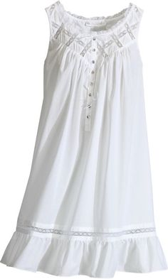 Women's Eileen West Moonlight Sonata Short Cotton Nightgown for mom White Nightgown, Vintage Nightgown, Sleeping Gown, Cotton Nighties, Cotton Sleepwear, Night Gown Dress, Nightgown Pattern, Night Dress For Women, Nightgowns For Women