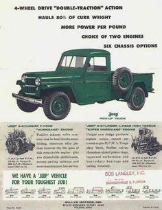 48 ideas jeep truck vehicles for 2019 Vintage Jeep, Vintage Trucks, Old Trucks, Jeep Willis, Jeep Concept, Jeep Pickup Truck, Willys Wagon, Old Jeep, Jeep Jeep