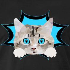 SpreadCats | Katze Kätzchen Mieze Katzenfreund - Männer Premium T-Shirt. Schönes Design mit einer Katze. Toll geeignet als Geschenk für Katzen Liebhaber und Katzenbesitzer. #katze #Kätzchen #katzenliebhaber #cat #cute #kitty Kittens Cutest Baby, Cats And Kittens, Horse Quotes, Cat Hair, I Love Mom, How To Roll Sleeves, Fruit Of The Loom, Cat Gifts, I Love Cats