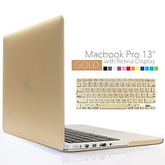 iBenzer - 2 in 1 Soft-Touch Series Plastic Hard Case Cover & Keyboard Cover for 13 inches Macbook Pro 13.3'' with Retina display (Model: A1502 / A1425 ), Gold MMP13R-GD+1 iBenzer http://www.amazon.com/dp/B00Z14LEDC/ref=cm_sw_r_pi_dp_jMeLvb07A9JRM