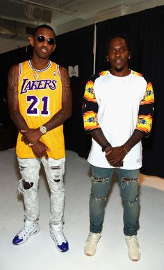 Fabolous wearing Packer Shoes x Reebok Question- For Player Use Only Kobe Bryant PE and Pusha T wearing Pusha T x adidas EQT Guidance '93- King Push