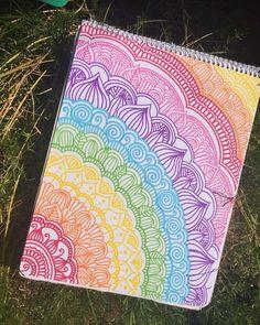 Espero y les guste ? Doodle Art Drawing, Cool Art Drawings, Mandala Drawing, Pencil Art Drawings, Art Drawings Sketches, Easy Drawings, Dibujos Zentangle Art, Mandala Art Lesson, Doodle Art Designs