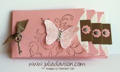 Julie's Stamping Spot -- Stampin' Up! Project Ideas Posted Daily: Petite Pocket Mini Album by Cool Paper Crafts, Scrapbook Paper Crafts, Paper Crafting, Mini Albums Scrap, Mini Scrapbook Albums, Book Making, Card Making, Minis, Album Book