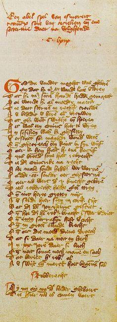 literatuurgeschiedenis.nl | de middeleeuwen
