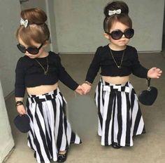 Trendy kids, sexy kids, cool kids, kids wardrobe, stylish kids clothes Source by Fashion Kids, Little Girl Fashion Clothes, Little Girl Outfits, Baby Girl Fashion, Toddler Outfits, Kids Outfits, Trendy Fashion, Fashion Trends, Trendy Kids