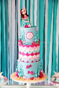 Isabella's mermaid cake | Flickr - Photo Sharing!