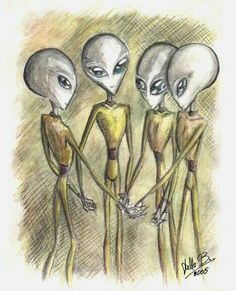 "unidentified-flying-object-stuff: ""aliens and the abduction process "" Arte Alien, Alien Art, Aliens And Ufos, Ancient Aliens, Close Encounters, Alien Encounters, Alien Planet, Alien Abduction, Alien Worlds"
