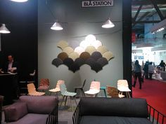 Our Ginkgo Acoustic Panels in the Milan Furniture Fair at the Bla Station Stand, 2014 #BlaStation #StoneDesigns