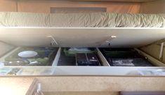 Cabover camper remodel rv interior ideas for 2019 Tub To Shower Remodel, Diy Bathroom Remodel, New Pop Up Campers, Happy Campers, Tent Camping Beds, Glamping, Cabover Camper, Wet Room Shower, Basement Remodel Diy