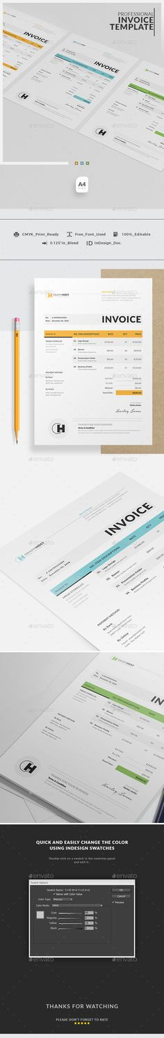 Think Your Invoice Is Boring Here Are The Top Beautiful Evkqmgmu - indesign invoice template