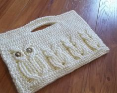 It's a Hoot Momma Owl Clutch Purse Crochet Pattern.  Instant Download