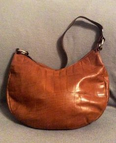 Vintage Falor Italian Leather Hobo Handbag on Etsy, $35.00