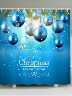 2020 Christmas Shower Curtain Best Online For Sale Cheap Christmas, Merry Christmas And Happy New Year, Christmas Baubles, Christmas Shower Curtains, Christmas Bathroom, Curtains For Sale, Christmas Ornaments, Christmas Tree Baubles, Christmas Decorations
