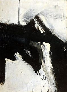 justanothermasterpiece:    Franz Kline.  The world sees black and white but it is bursting at the seams in color...