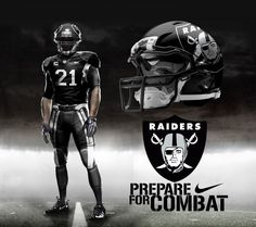 Raiders Nike Combat Uniforms 2012 | New Raiders Uniforms Raiders 2012's new uniform