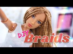 """by request: Transform your Dolls """"Bad Box Hair"""" into Fabulous Doll Braids! Check out Froggy's tips and tricks on how you can braid your dolls hair and make . Barbie Box, Barbie Hair, Barbie And Ken, Barbie Clothes, Barbie Dolls, Barbie Stuff, Youtube Dolls, My Froggy Stuff Videos, Barbie Doll Hairstyles"""