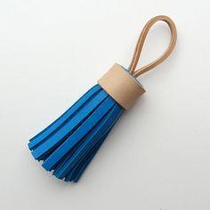 Leather tassel / tassel keychain / tassel keyring handmade by RinartsAtelier